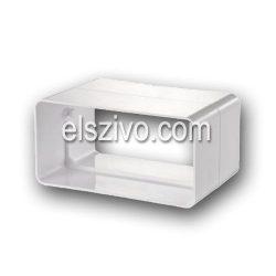 Gonal 0610 Lapos cső csatlakozó/toldó 100mm-es (60x120)