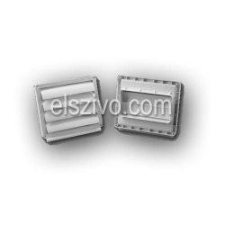 0652 gravitációs zsalu lapos csőrendszerhez 100mm (60x120)