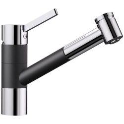 Blanco TIVO-S antracit/króm gránit kihúzható zuhanyfejes csaptelep