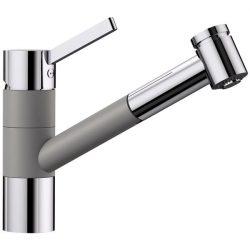 Blanco TIVO-S alumetál/króm gránit kihúzható zuhanyfejes csaptelep