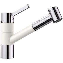 Blanco TIVO-S fehér/króm gránit kihúzható zuhanyfejes csaptelep