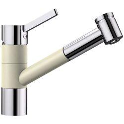Blanco TIVO-S jázmin/króm gránit kihúzható zuhanyfejes csaptelep