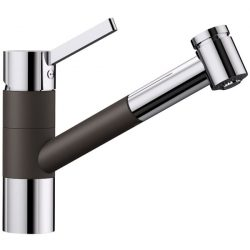 Blanco TIVO-S kávé/króm gránit kihúzható zuhanyfejes csaptelep