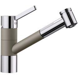 Blanco TIVO-S tartufo/króm gránit kihúzható zuhanyfejes csaptelep