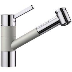 Blanco TIVO-S gyöngyszürke/króm gránit kihúzható zuhanyfejes csaptelep