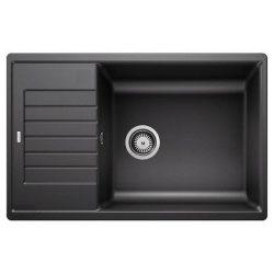 Blanco ZIA XL 6 S COMPACT fekete silgránit csepptálcás mosogatótál