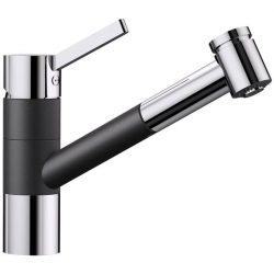 Blanco TIVO-S fekete/króm gránit kihúzható zuhanyfejes csaptelep