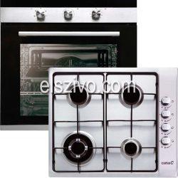 Cata 1A konyhagép szett Cata CM 760 AS BK sütő + Cata GI 6031 X gázfőzőlap