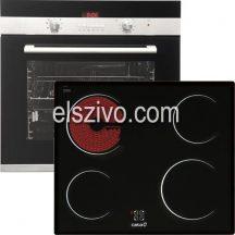 Cata 3B konyhagép szett Cata CDP 780 AS BK sütő + Cata T 604 kerámia főzőlap