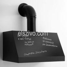 Kdesign K125 T600 BLACKBOARDfekete rusztikus kürtős páraelszívó