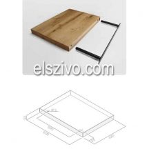 KIT0120946 tölgyfa polc 60x43