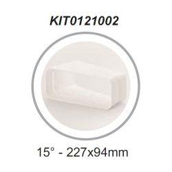 Elica KIT0121002 Lapos csatorna toldó 15° (227x94)