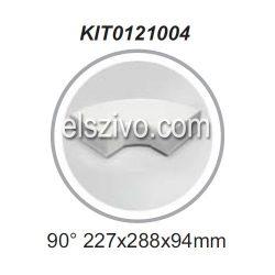 Elica KIT0121004 Lapos csatorna 90 fokos sarok vízszintes (227x94mm)