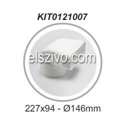 Elica KIT0121007 Cső-Lapos csatorna átalakító függőleges 90° (220x90mm)