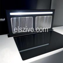 Sirius S-DD12 TC SMOOTH fekete pultba építhető páraelszívó