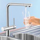 Víztisztítóra köthető csaptelep